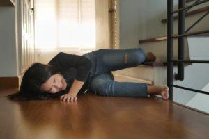 chute en escalier